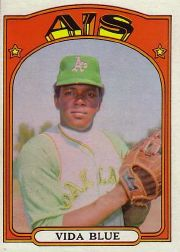 1972 Topps Baseball Cards      169     Vida Blue